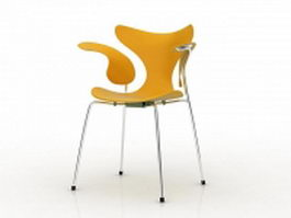 Eames organic chair - yellow 3d model