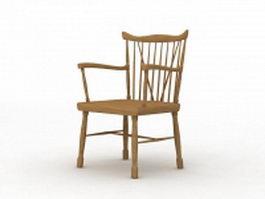 Wood Morris chair 3d model
