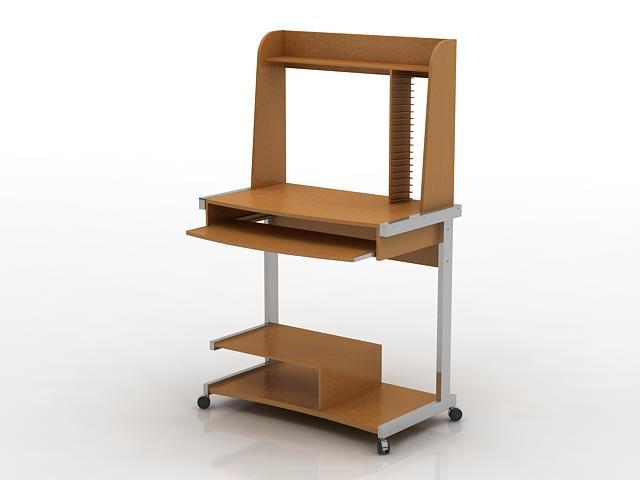 Mini Computer Desk 3d model