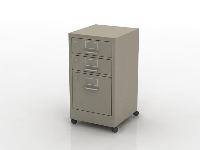 Removable steel file cabinet 3d model 3dsMax files free download