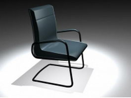 Leather cantilever chair 3d model