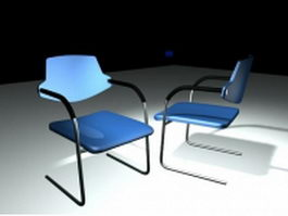 Two models of cantilever chair 3d model