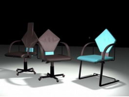 Art design of cantilever chair and swivel chairs 3d model