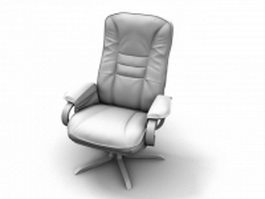 Highback executive chair with armrest 3d model