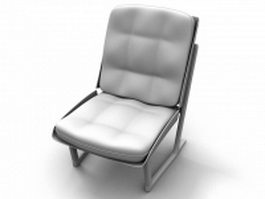 Upholstered metal chair 3d model
