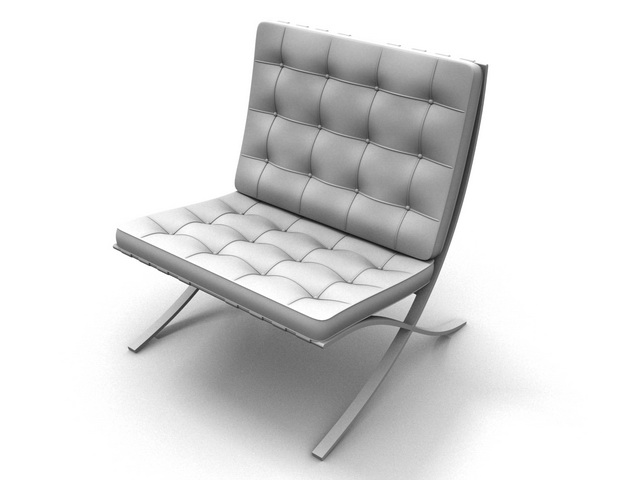 Barcelona Chair 3d Model 3dsmax Files Free Download