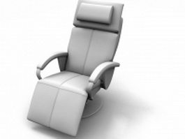 Adjustable reclining chair 3d model