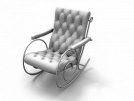 Upholstered rocking chair 3d model