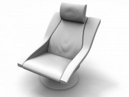 Reclining scoop chair 3d model