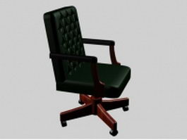 Classic leather executive chair 3d model