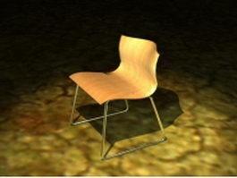 Modern yellow scoop chair 3d model