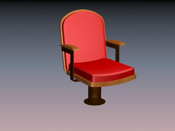 Fixed auditorium seating 3d model - CadNav