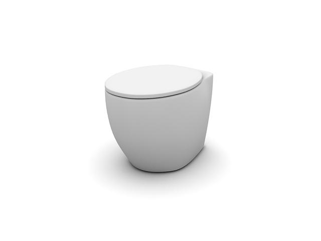 Floor standing toilet 3d model 3dsmax files free download modeling 14027 on cadnav - Toilet model ...