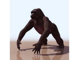 Western lowland gorilla 3d model