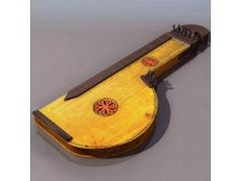 Alpine zither 3d model