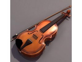 Baroque violin 3d model
