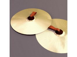 Disc-shaped cymbals 3d model