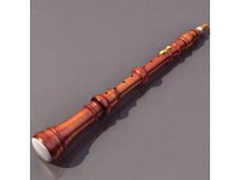 Wood clarinet 3d model