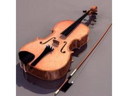 Full-size viola 3d model