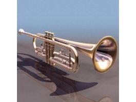 Bass trumpet 3d model