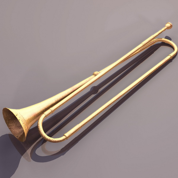 Natural Trumpet 3d Model 3ds Files Free Download
