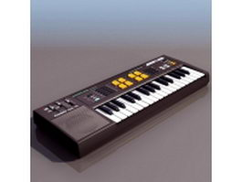 Electronic keyboard musical instrument 3d model