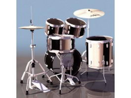 Modern jazz drum set 3d model