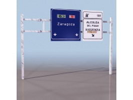 Adance directional sign 3d model