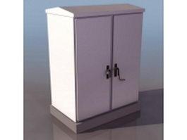 Road lighting electrical control box 3d model
