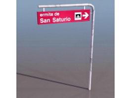 Street traffic sign 3d model