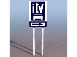 Roadworthiness regulatory sign 3d model