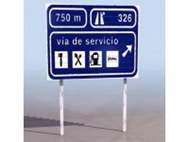 Service area sign 3d model