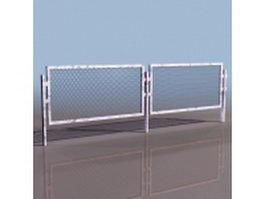 Highway isolation fence 3d model