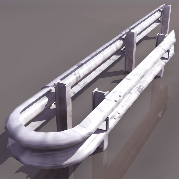 Road Separation Fence 3d Model 3ds Files Free Download