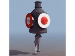Railway searchlight signal 3d model