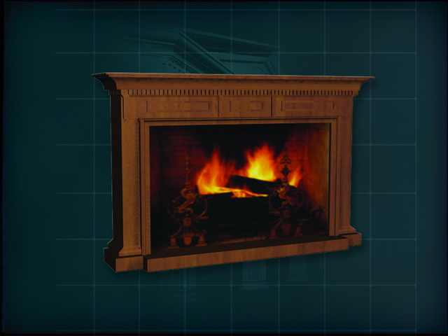 Carving wood mantelpiece fireplace 3d model