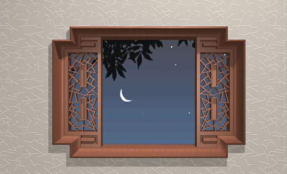 Chinese Traditional Carved Wooden Window 3d Model 3dsmax