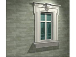 Gypsum decorative fixed window 3d preview