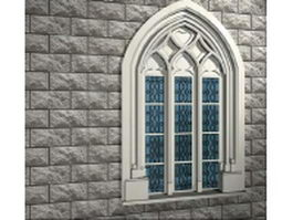 Alabaster mullion decorative window 3d model