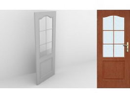 Half-glazed door 3d model