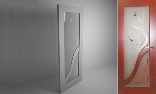 frosted glass panel door 3d model 3dsmax 3ds files free