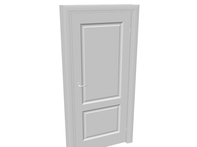Solid core flush door 3d model 3dsmax files free download for Solid flush door