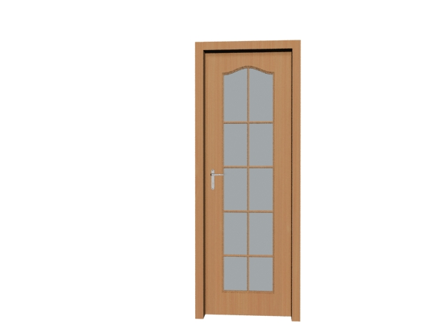 10 pane glass panel door 3d model 3dsmax files free for 10 pane glass door