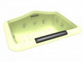 Sunken whirlpool tub 3d model