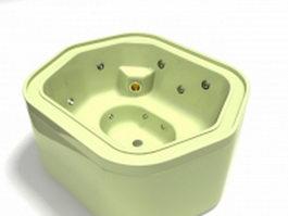 Air jet whirlpool bathtub 3d model