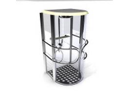 Simple shower stall 3d model