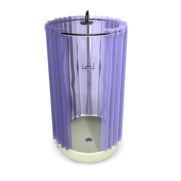Violet Sliding Shower Curtain 3d Model 3dsMax Files Free