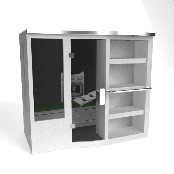 Outdoor Sauna Steam Room 3d Model 3dsMax Files Free