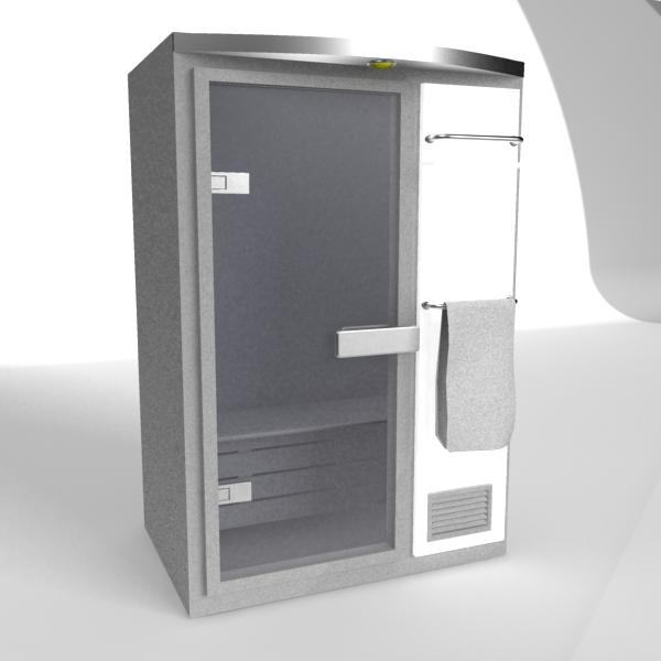 Mini Sauna Room 3d Model 3dsMax Files Free Download