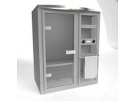 Traditional sauna room 3d model